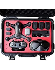 2021 VCUTECH FPV Drone Waterproof Hard Case Compatible with DJI FPV Combo, DJI FPV Goggles, Motion Controller & Drone Accessories, Anti-Crash with Protection(Drone and Accessories are Not Included)