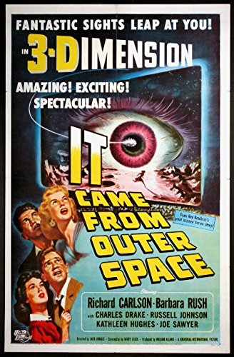 IT CAME FROM OUTER SPACE JACK ARNOLD 3-D SCIENCE FICTION 1953 1-SHEET