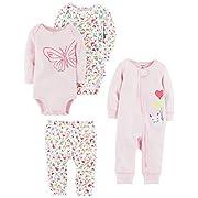 Carter's Baby Girls' 4-Piece Gift Set, Pink Floral, 3 Months