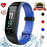 Mgaolo Fitness Tracker HR, Activity Tracker Waterproof Smart Watch Wristband with Heart Rate Blood Pressure Pedomete for Android and iPhone (Blue)