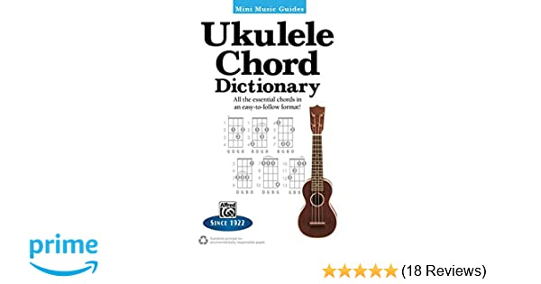 Amazon Mini Music Guides Ukulele Chord Dictionary All The