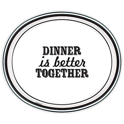Black /& White Paper Party Supplies Eat /& Enjoy Party Entertaining Kit Dinner Together Plates Napkins Bold