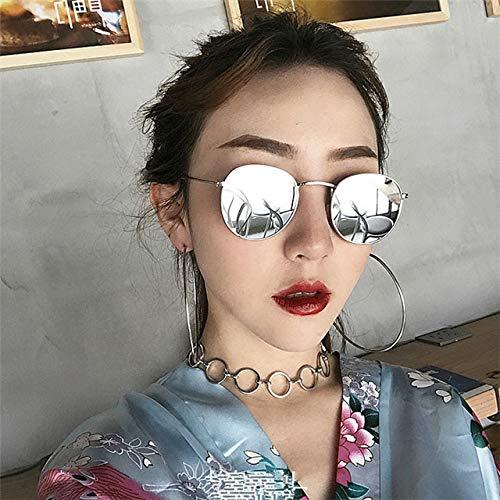 - Fashion Dress up Retro Sunglasses, Prince Mirror Small Round Box Round face Women Girls Men Man (White Elliptical Reflector (Glasses case)