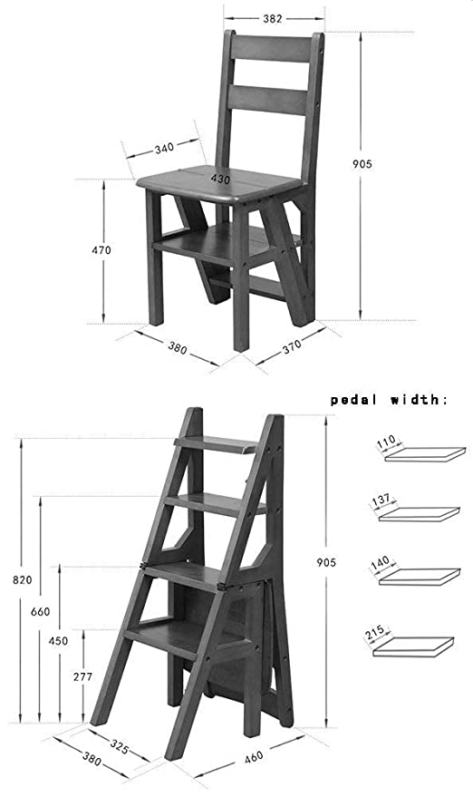 JTD Simplicidad con estilo en el hogar Taburete de madera ...