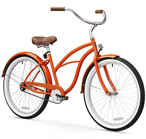 sixthreezero Women's 1-Speed 26-Inch Beach Cruiser Bicycle, Glossy Orange Review