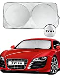 Windshield Sunshade 59 x 27.55 Inches - Tcisa Premium Folding UV Protection and Heat Block Sun Visor Auto Car Front Sun Shade