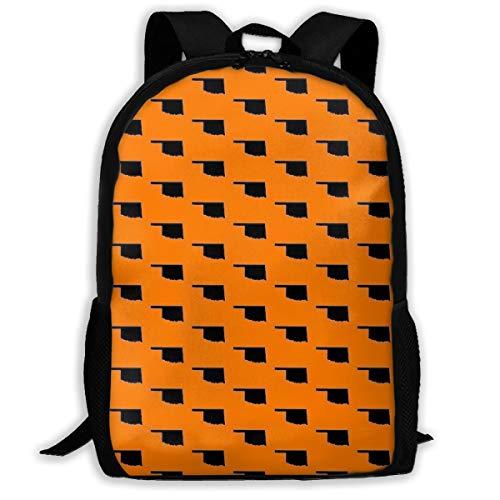 Diviviya Oklahoma State - Orange Laptop Outdoor Backpack,Travel Hiking&Camping Rucksack Pack,Casual Large College School Daypack,Shoulder Book Bags Back