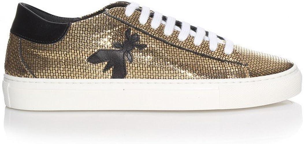 Patrizia Pepe Damen Sneaker Gold Snake, Größe 38: