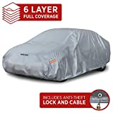 "Motor Trend M5-CC-3 L (7-Series Defender Pro-Waterproof Car Cover for All Weather-Snow, Wind, Rain & Sun-Ultra Heavy 6 Layers-Fits Up to 190"")"