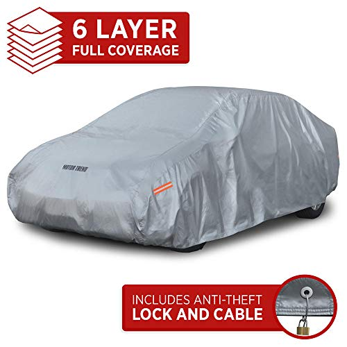 Motor Trend M5-CC-3 L (7-Series Defender Pro-Waterproof Car Cover for All Weather-Snow, Wind, Rain & Sun-Ultra Heavy 6 Layers-Fits Up to 190