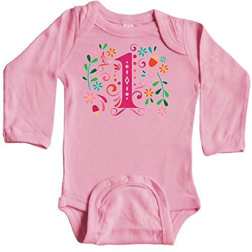 inktastic 1st Birthday Party Long Sleeve Creeper 18 Months Light Pink 30336