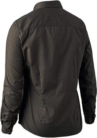 Deerhunter Mujer Cari Camisa - Oscuro Elm C40 Marrón C40 Marrón: Amazon.es: Ropa y accesorios