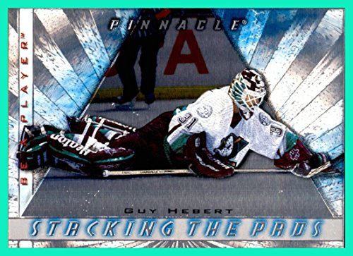 1997-98 Be A Player Stacking the Pads #1 Guy Hebert ANAHEIM MIGHTY (Anaheim Mighty Ducks Player)
