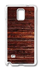 Samsung Note 4 Case,VUTTOO Cover With Photo: Brown Wood Background For Samsung Galaxy Note 4 / N9100 / Note4 - PC Transparent Hard Case