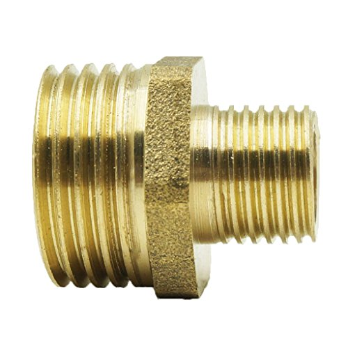 Fenteer 1'' 3/4'' 1/16'' 1/2'' Brass Barbed Male End Threaded Fitting Coupler Connector for Fuel Gas Water Pipe - As picture show, 1-3/4 inch (Connectors 1/2' Threaded Male)