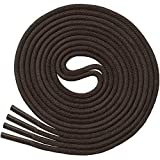 "Waxed Thin Round Dress Shoelaces [3 Pairs] 3/32"" Thick - By Miscly (30"" (76 cm), Dark Brown)"