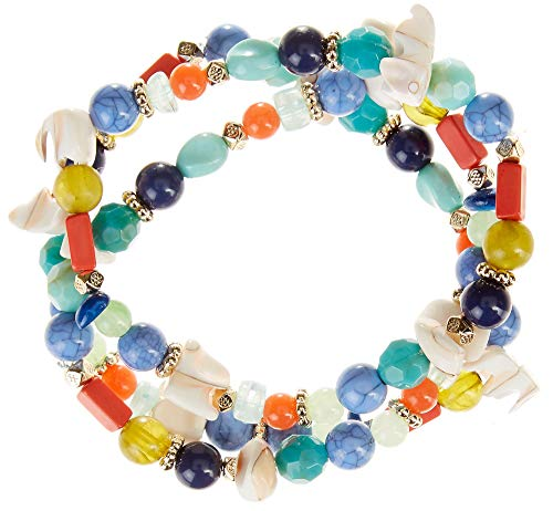 Bay Studio Shell Beaded Stretch Bracelet Set One Size Multi Bay Studio Set Bracelet