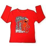 Sesame Street Elmo Cookie Monster Kids Boys Girls T-Shirts - Red - 2T