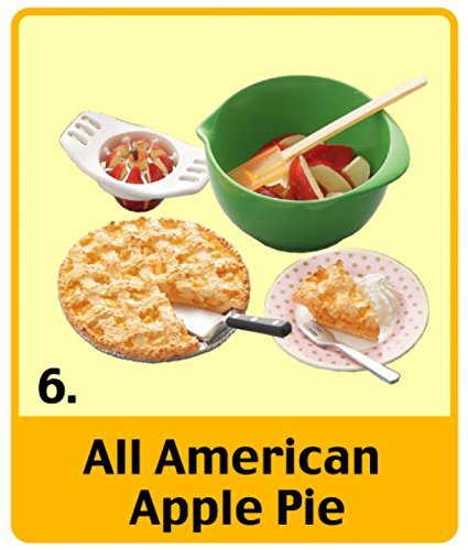 Re-Ment All American Apple Pie #6 Set Mini Sweets Retired Collectible Food OOP Mini Miniature Doll Dollhouse 2006 Toy