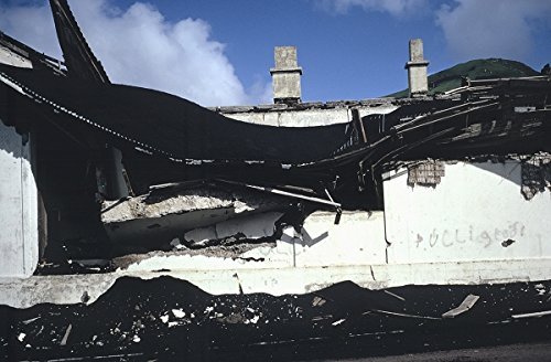 Destroyed House (House destroyed by volcanic ashes, Vestmanna Islands, Iceland 1974 30x40 photo reprint)