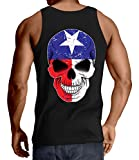 HAASE UNLIMITED Men's Texas Flag Skull Tank Top