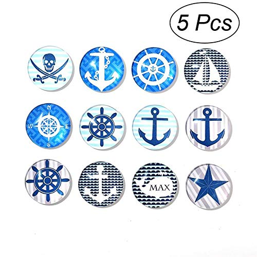 Design - 5pcs Glass Refrigerator Magnet Home Decoration Paste Arts Crafts Random 5 Assorted Designs 30mm - Pack Kawaii Thrones Magnets Bulk Angeles Frames Iowa Small Office Love Vegas United ()