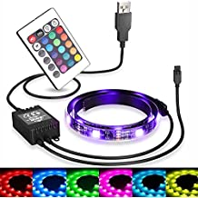 USB LED Strip Backlight (78in / 2m) ,for HDTV Color RGB LED TV Backlight Strip with Dimmer for Bias Lighting HDTV Wall Mount Stand Home Theater Decor,Flat Screen TV LCD, Desktop Monitors,