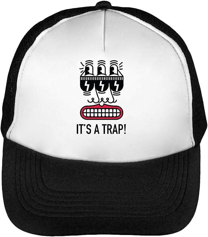 Its A Trap Alien Gorras Hombre Snapback Beisbol Negro Blanco ...