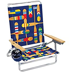 Rio Beach Classic 5 Position Lay Flat Folding Beach Chair - Paddles