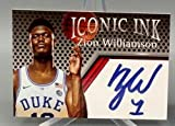ICONIC INK Zion Williamson 2019 Autographed Rookie