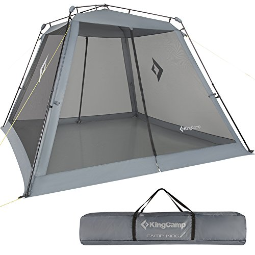 KingCamp Screen House Instant UPF 50+ Sun Shelter with Mesh Side Walls 10 x 10 ft Extra Large Portable Waterproof Roomy Canopy Tent for Camping Hiking Outdoor Sports (Carry Bag Included)