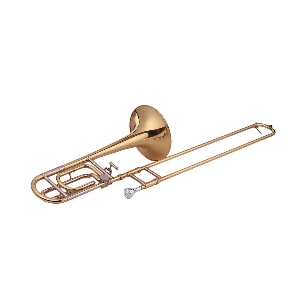 Festnight Trombone, Intermediate Bb Flat Tenor Slide Trombone with F Attachment Including Mouthpiece Carry Case by Festnight (Image #3)
