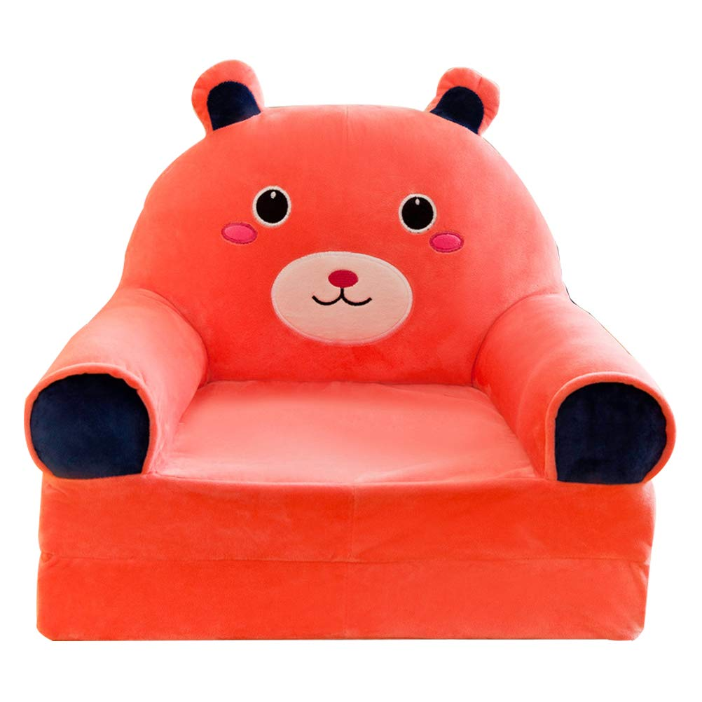 Duck Dytiying Plush Foldable Childrens Sofa Cartoon Animal Soft Baby Backrest Chair for Playroom Bedroom