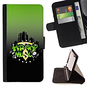 BETTY - FOR Samsung Galaxy S3 Mini I8190Samsung Galaxy S3 Mini I8190 - Hip-hop Music - Style PU Leather Case Wallet Flip Stand Flap Closure Cover