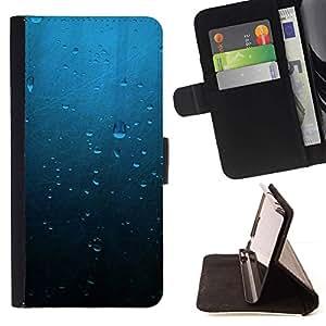 Momo Phone Case / Flip Funda de Cuero Case Cover - Gotas de agua;;;;;;;; - Sony Xperia Z5 5.2 Inch (Not for Z5 Premium 5.5 Inch)