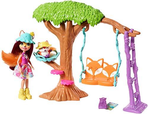 Enchantimals Playground Adventures Playset + Felicity Fox Doll & Flick Figure (Fox Doll)
