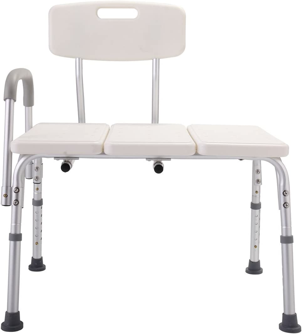 10 Height Adjustable Medical Shower Chair Bath Tub Bench Stool Seat zurück and Arm