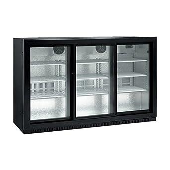 scancool sc 309 sl 268 litres triple glass door back bar cooler 865