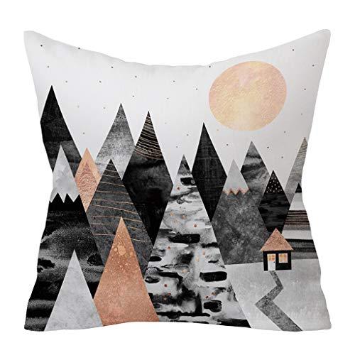 Pillow cases Decorative,HYGCGH7Y Fashion Gray Sofa Car Waist Throw Cushion Cover Home Decor