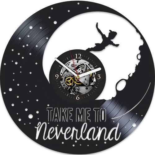 Peter Pan Clock, Disney Clock, Wall Clock Modern, Disney Gift For Girl, Wall Clock Large, Xmas Gift, Peter Pan Birthday Gift, Xmas Gift For Kids, Peter Pan Gift For Girl, Gift For Brother