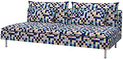 Soferia - IKEA SÖDERHAMN Funda para sofá Cama, Mozaik Blue ...