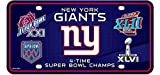 4x superbowl champions - New York Giants 4X Super Bowl Champions Aluminum License Plate Tag Football