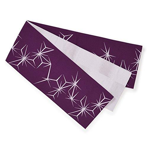 断線灰ホイッスル桐生織 リバーシブルゆかた帯 糸の詩 麻の葉 日本製