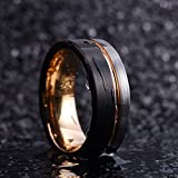 King Will Loop Tungsten Carbide Wedding Band 8mm