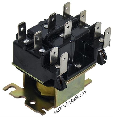 -92-340 Replacement Heavy Duty Switching Fan Relay DPDT 24 VAC Coil ()