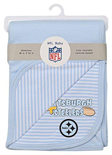 - Outerstuff NFL Newborn Blanket, Steelers, Blue, 1 Size
