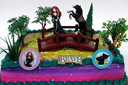 disney-pixar-brave-12-piece-cake-topper-set-featuring-2-brave-figures-and-highlands-decorative-theme