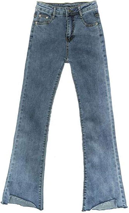 SHUOSENジーンズ レディース ブーツカット ストレート デニムパンツ 個性的 pants