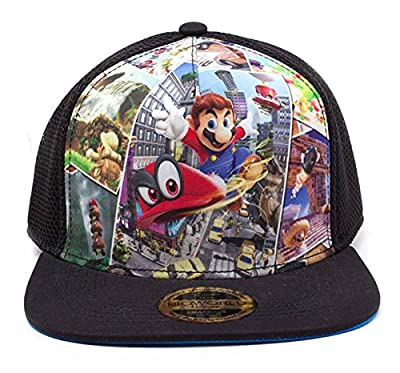 Super Mario Baseball Cap Odyssey Logo Official Nintendo Trucker Snapback by Nintendo Merch