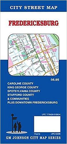 Fredericksburgspotsylvania stafford virginia street map gm flip to back flip to front sciox Image collections